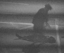 A still from CCTV footage showing the main offender in the attack