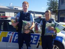Constables Paul Verge and Cate Paddon