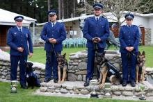 NZ Police winners with their dogs.