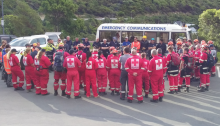 Emergency services personnel at Christchurch gondola exercise