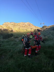 "Emergency services personnel transport ""casualties"" in SAR exercise"