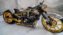 One of the motorcycles seized