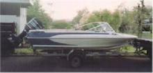 Galstron fibreglass ski boat