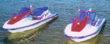 2 matching Kawasaki Jetskis White with p