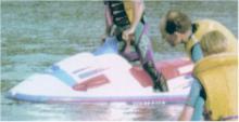 Yamaha Waveraider 1100. White hull and t