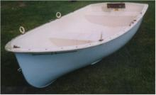 2.4m fibreglass Seagull dinghy