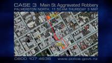 Case 3: Crime of the Week - Main Street Aggravated Robbery, Palmerston North - map