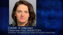 image of Desiree Fay WESTON, wanted woman for case three of Police Ten Seven season 26, episode 31