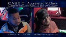 closer look of two men who alleged aggravated robbery at La Fogata in Royal Oak