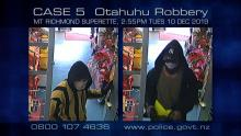 Case 5: Crime of the Week - Mt Richmond Superette Robbery, Otahuhu, Auckland