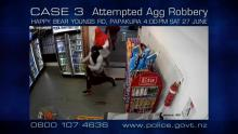 CCTV footage of two guys covered face in dairy shop