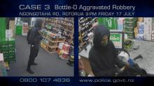 CCTV footage of man with Axe in liquor shop