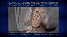CASE 3: Crime of the Week - Counties Manukau Armed Robberies - CCTV 3