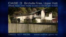 CASE 3: Crime of the Week - Bridge Road Fires, Upper Hutt house