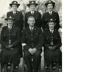Group of women police recruits at Lyttelton Police Training School 1953-54