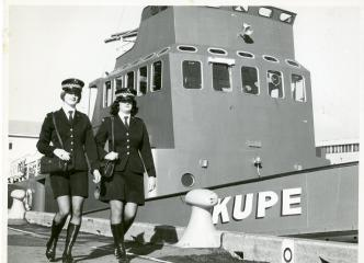 Policewomen uniform consisted of a short skirt and boots - followed the fashion trend