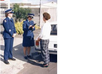 Sergeant Jan Chipman and Constable Ann-Marie Harvey of Otahuhu displays the different cut to the Policewoman's tunic