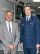 Minister Sagala Ratnayaka and Assistant Commissioner Mike Rusbatch at Central Comms