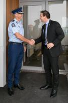 Police Commissioner Mike Bush and Police Minister Stuart Nash declare the facility open