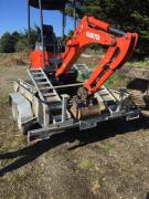 The digger was reported stolen in March.