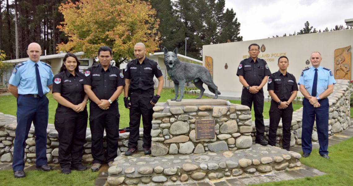 Indonesian delegation at Dog Training Centre.