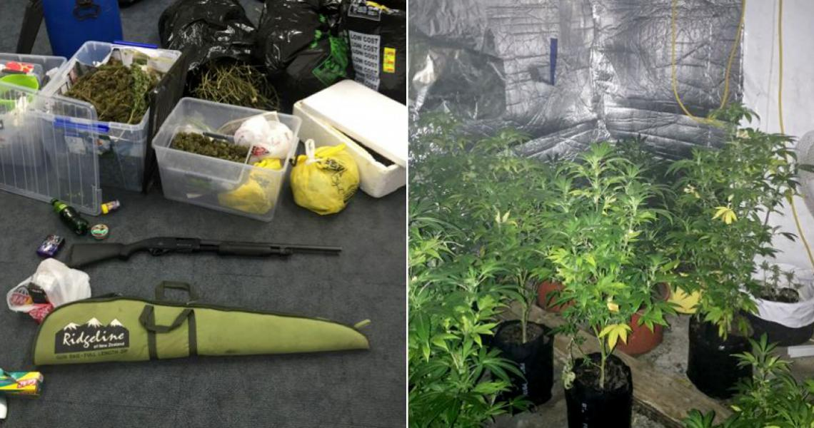 Some of the haul from the warrants the team helped execute.