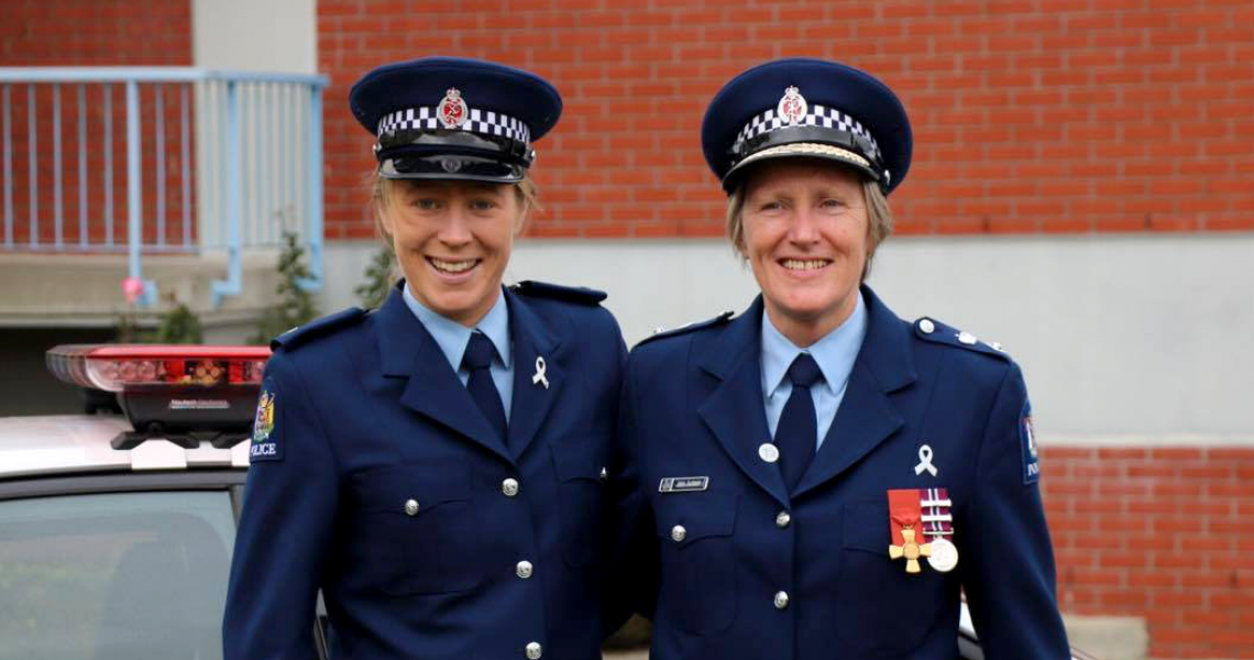 New Constable Laura Jackson with her mother, Superintendent Anna Jackson.