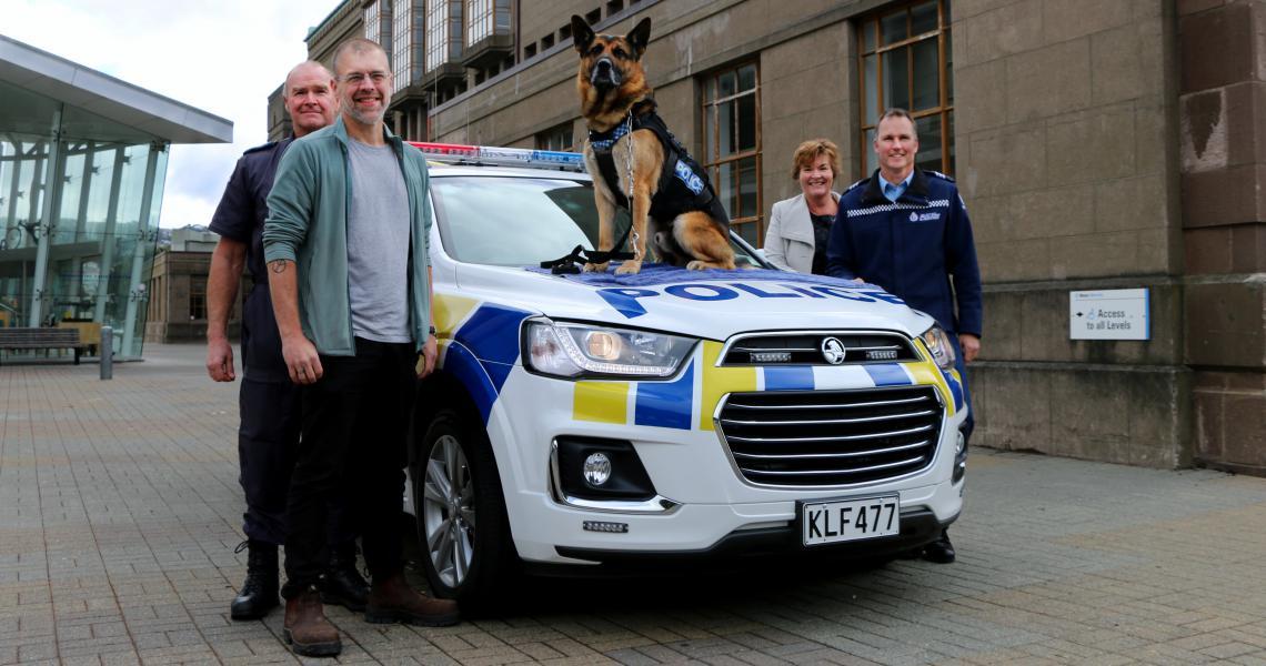Dog van and team