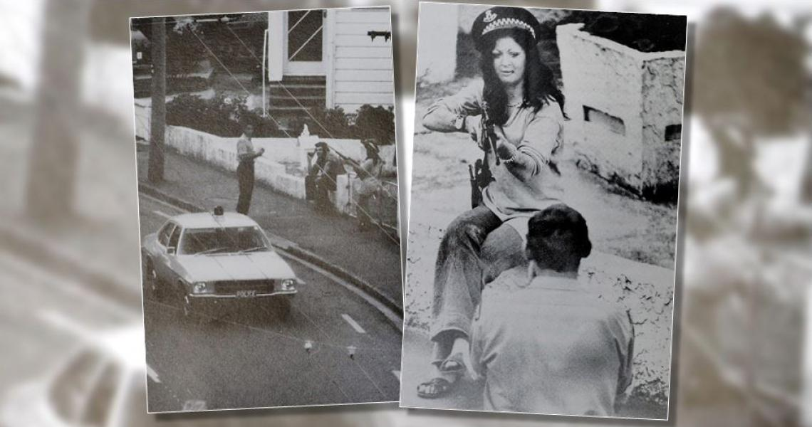 Siege drama in Aro Street in 1974 (photos from With Confidence and Pride, by Sherwood Young).