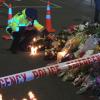 Police officer at memorial