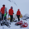 The resuce team on Mount Aspiring