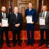 Senior Sergeant Antony Callon accepting award