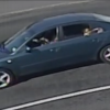 Blue car driven by potential witness