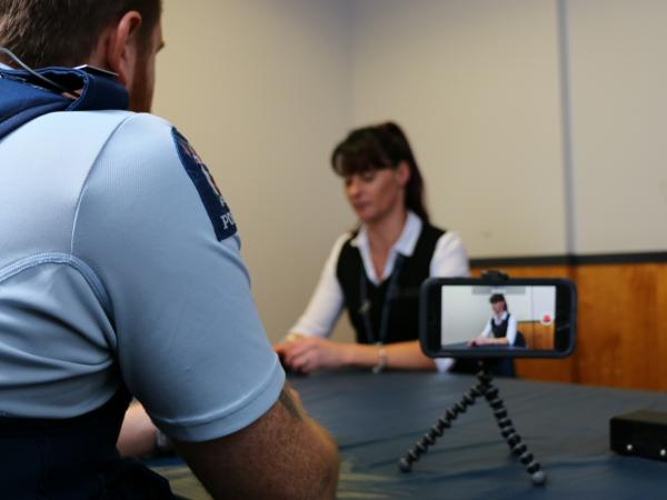 A scene from training for the Palmerston North pilot.