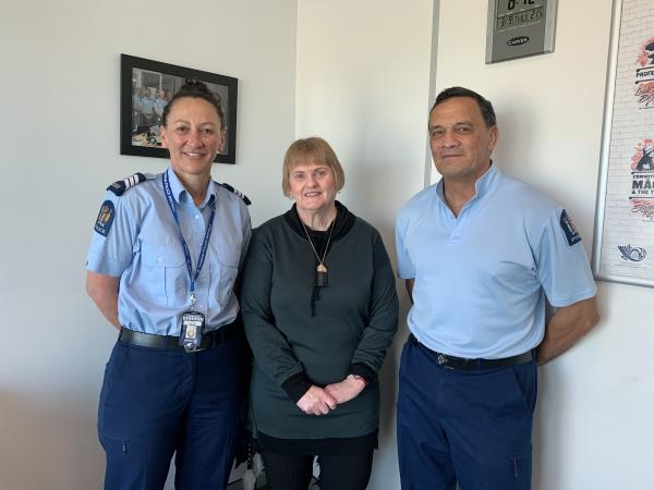 Sgt Steve Mariu, right, with Tasman District colleagues Rosemary Linde and Sgt Andrea Williams
