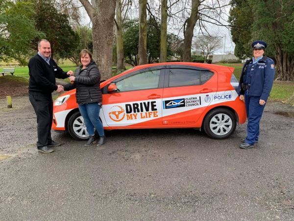 The Drive My Life Balclutha car made possible by contribution from the Clutha Foundation