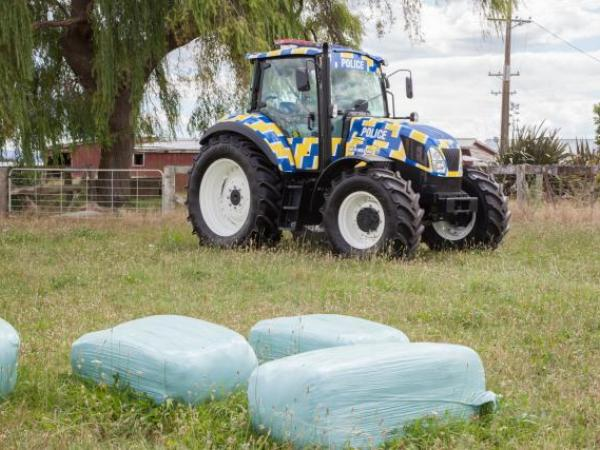 Ruaral setting: the Police tractor in its natural habitat