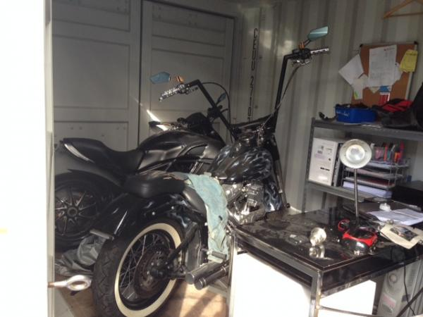 Motorbikes found in shipping containers