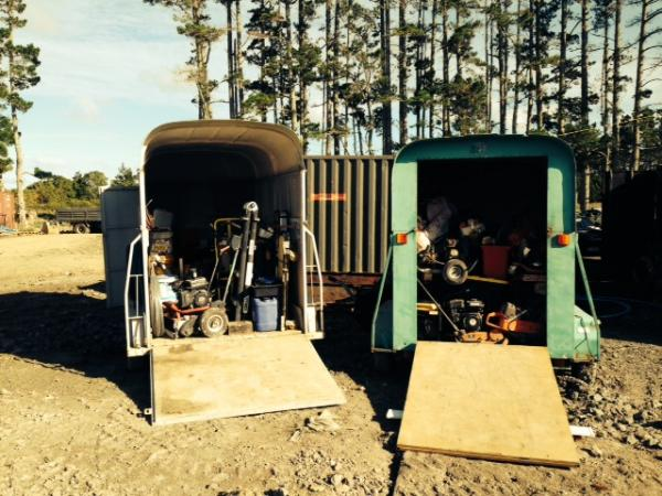 Two horse floats filled with stolen property