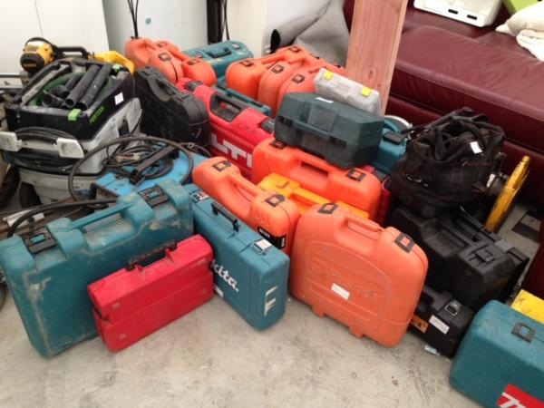 Some of the many power tools