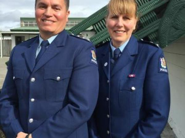 Supt Sandra Venables and Inspector Damin Ormsby