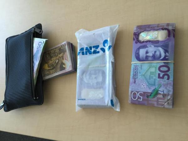 Some of the cash seized