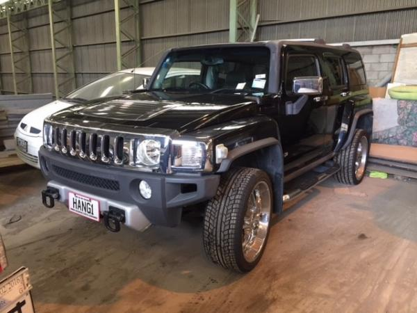 Hummer restrained Operation Fauna
