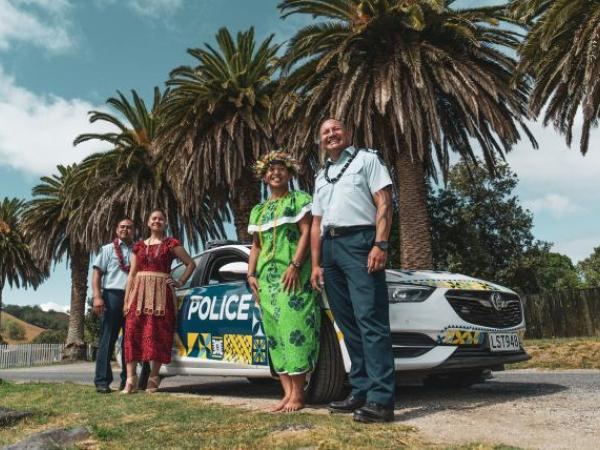 Pasifika Police staff - (from left) Constable Siona Ah-Shew, Maile Pesamino, Constable Josephine Mehau, Sergeant Romeo Chungson