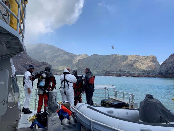 Dive Squad at Whakaari/White Island