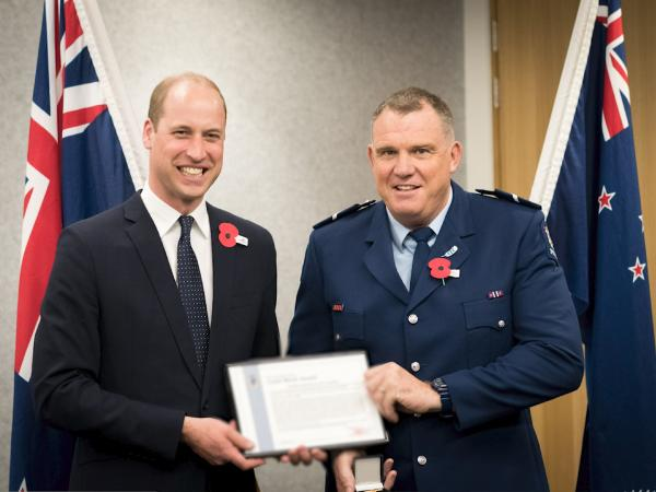 Presentation to Senior Constable Jim Manning