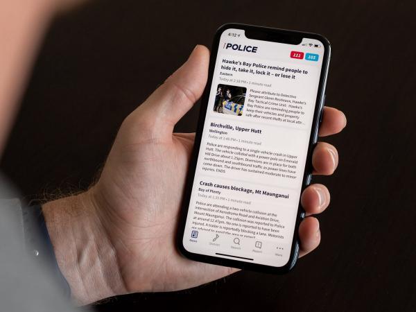 NZ Police app screen
