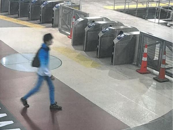Eloi Jean Rolland, last seen wearing a blue and white jacket, jeans, and dark sneakers