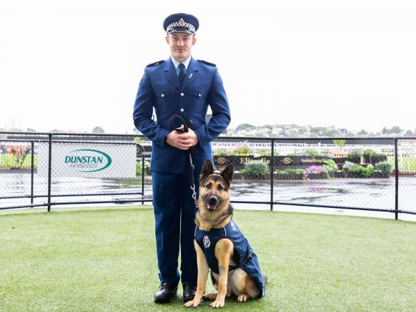 Constable James Napier with his dog Jessie