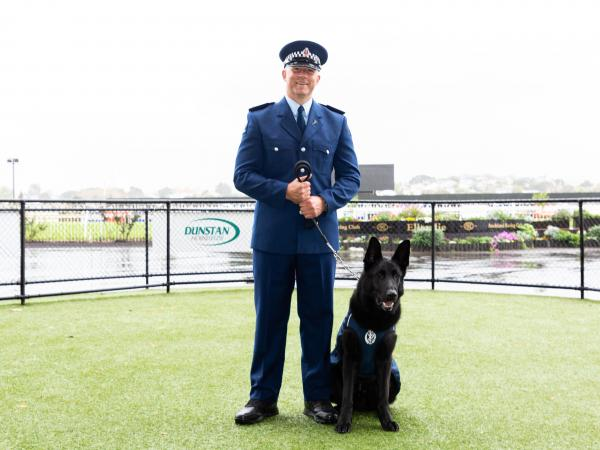 Constable Stu Clarke and his Police dog Tarr